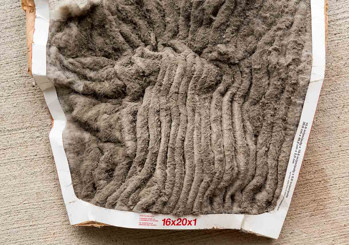 dirty HVAC filter