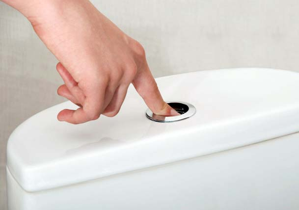 water-saving low flow toilet