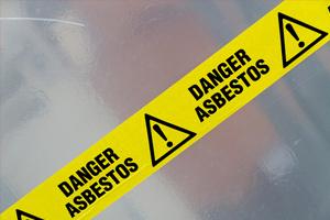 danger asbestos tape