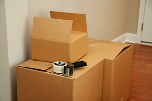 Moving Boxes with Tape Gun