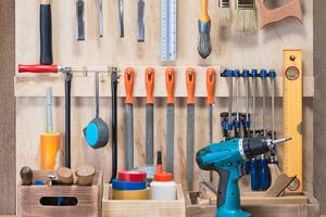 Organized garage tools