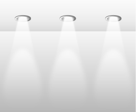 Overhead Recessed Lighting