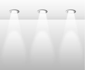 Overhead Recessed Lighting