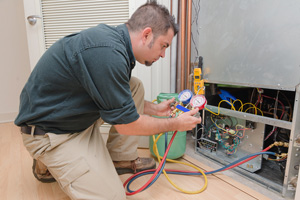 Refrigerant Recharged and Professional HVAC Contractor