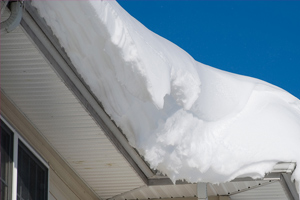snowdrift on roof